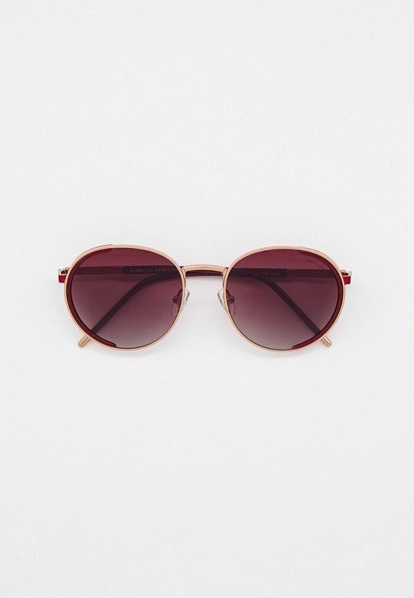 женские круглые солнцезащитные очки katrin jones, золотые
