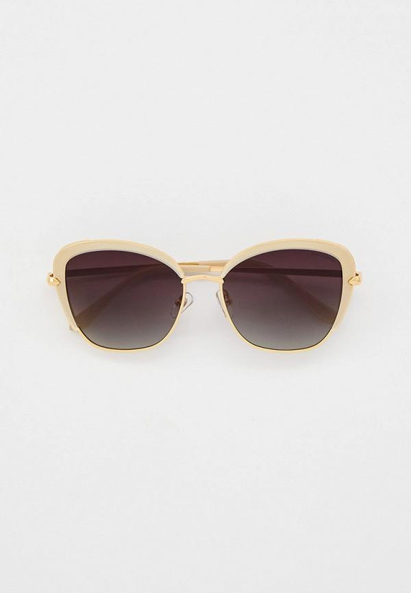 женские солнцезащитные очки кошачьи глаза katrin jones, бежевые