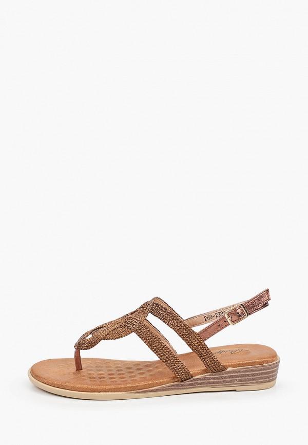 женские сандалии bridget, коричневые