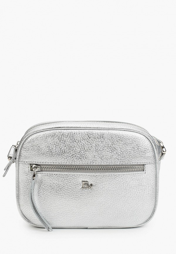 женская сумка через плечо franchesco mariscotti, серебряная