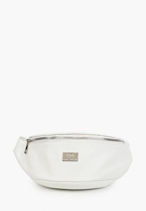 женская поясные сумка franchesco mariscotti, белая