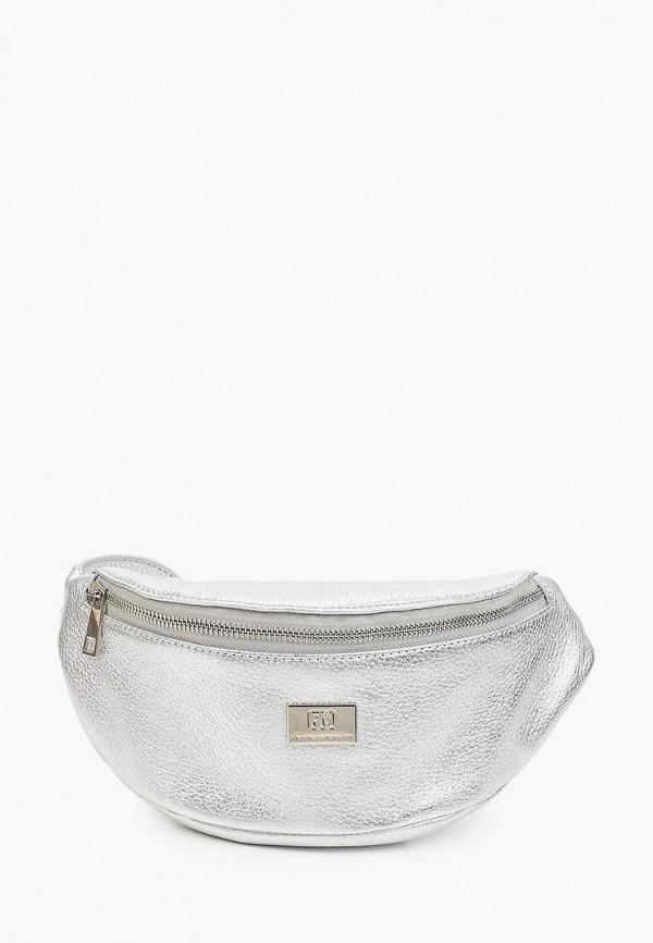 женская поясные сумка franchesco mariscotti, серебряная