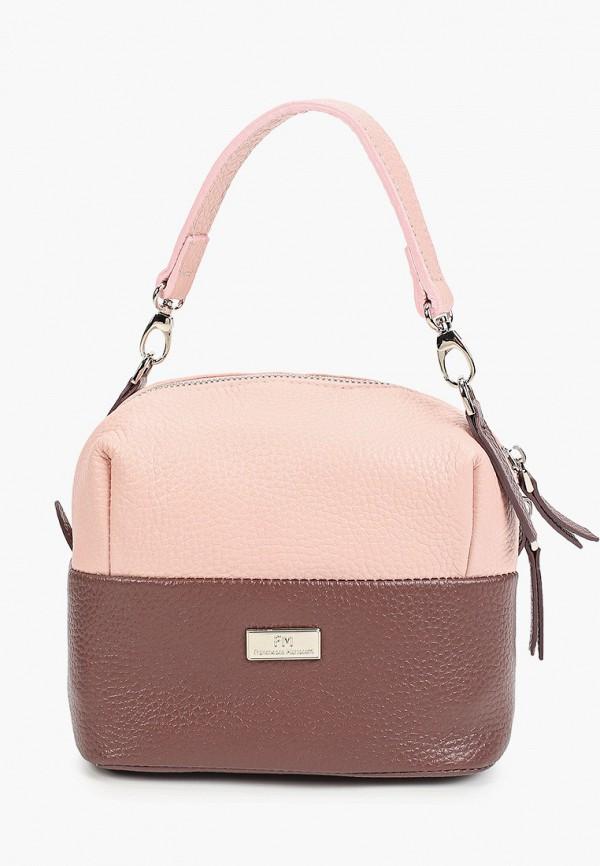 женская сумка с ручками franchesco mariscotti, розовая