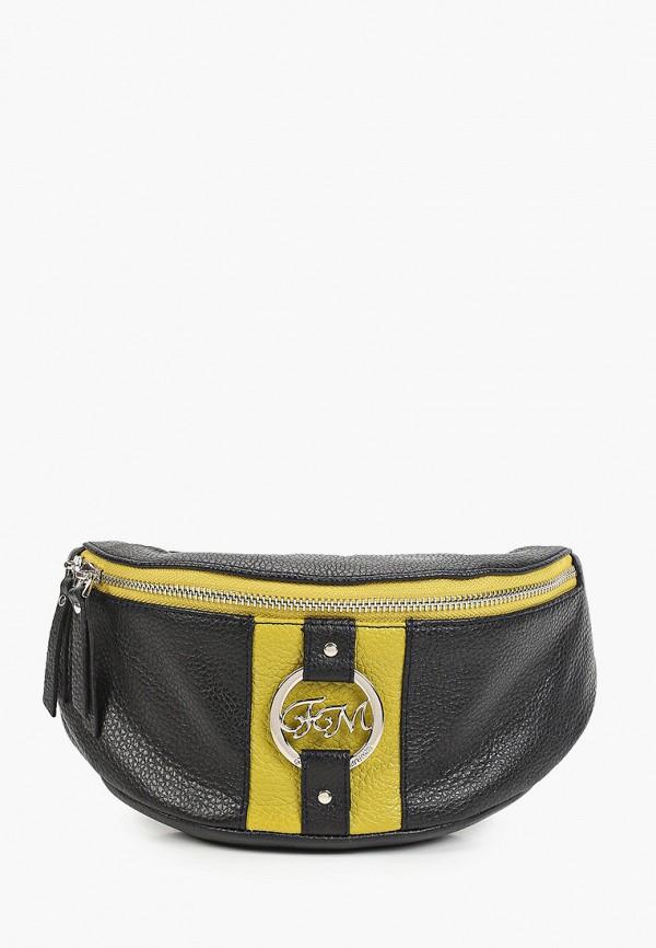 женская поясные сумка franchesco mariscotti, черная