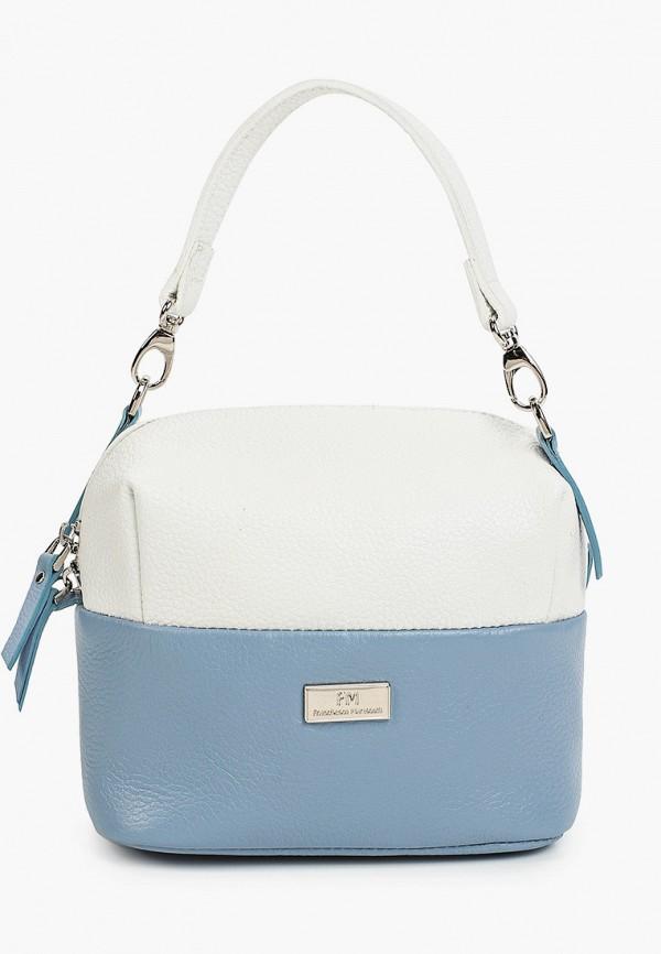 женская сумка с ручками franchesco mariscotti, голубая