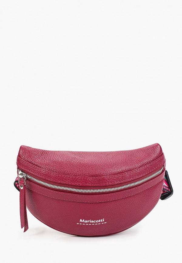 женская поясные сумка franchesco mariscotti, бордовая