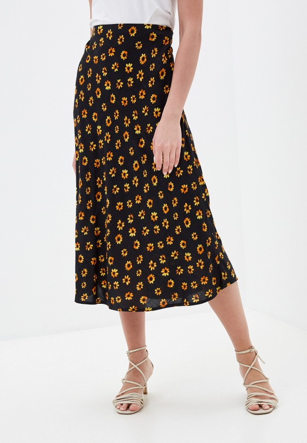 женская юбка-трапеции rvca, черная