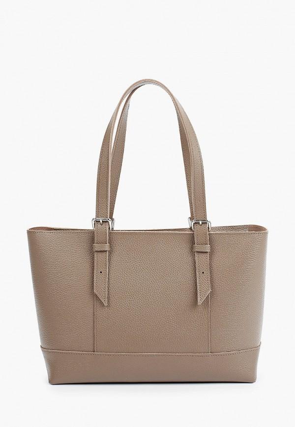 женская сумка с ручками divalli, бежевая