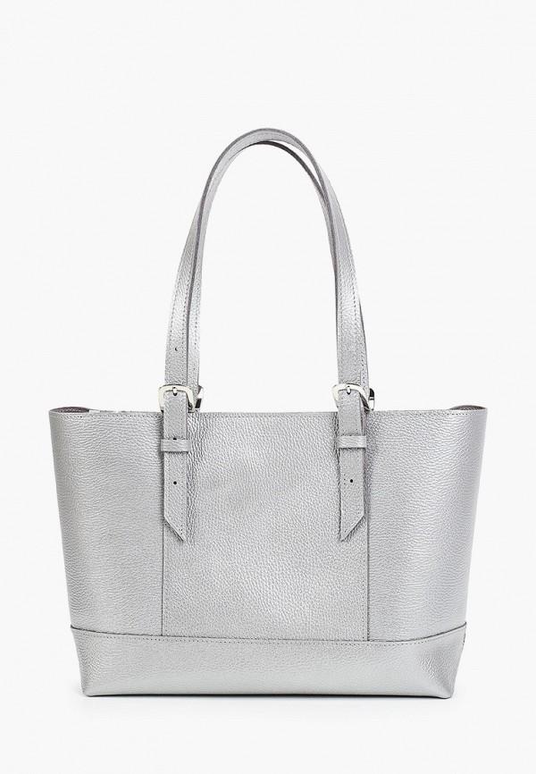 женская сумка-шоперы divalli, серебряная