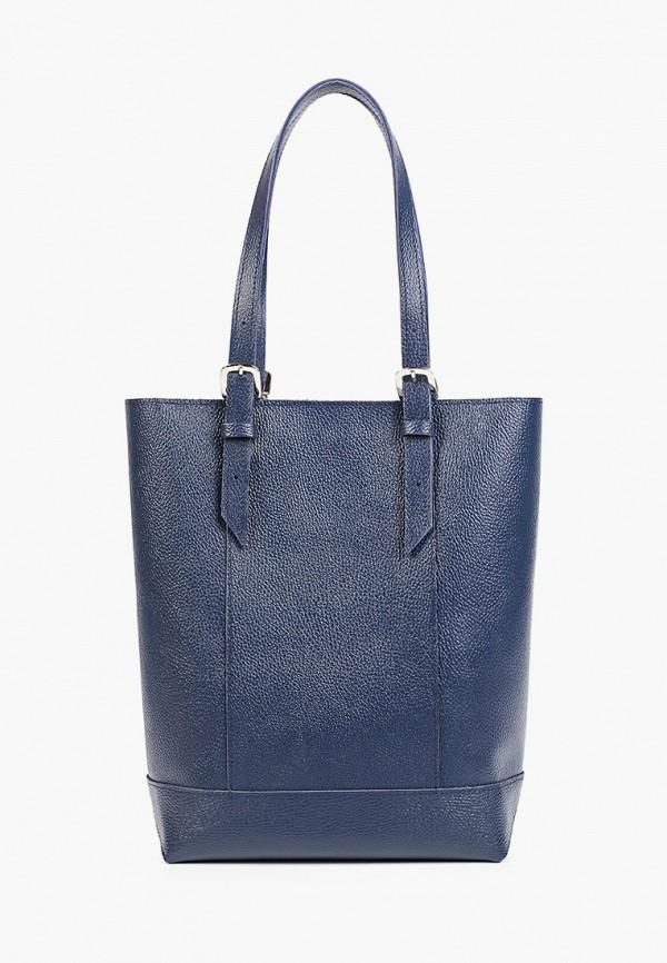 женская сумка с ручками divalli, синяя