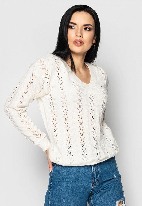 женский пуловер larionoff, белый