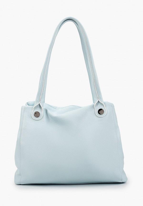 женская сумка с ручками fiato, голубая