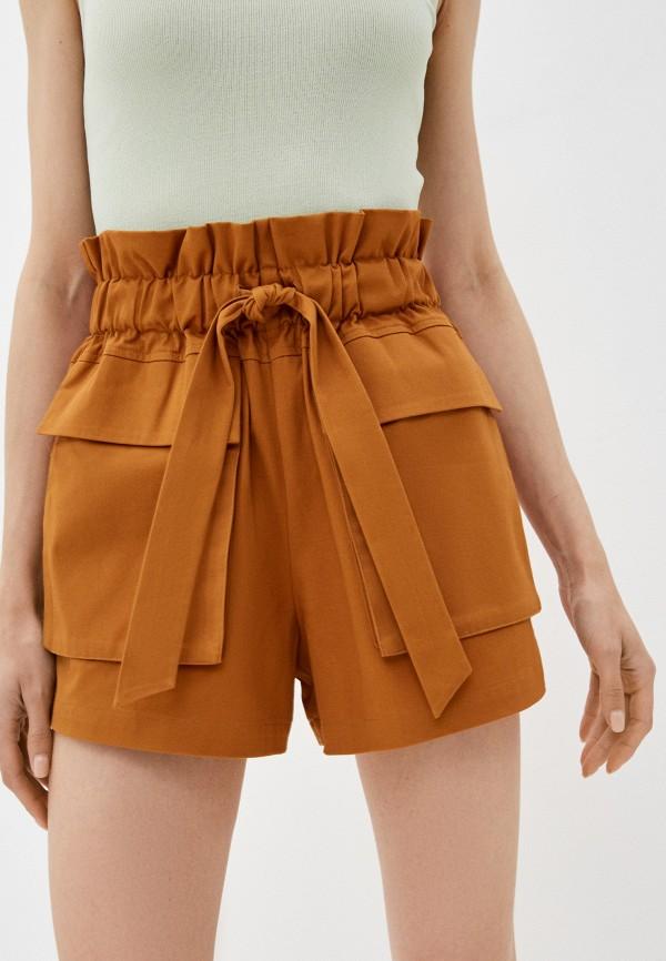 женские повседневные шорты incity, коричневые