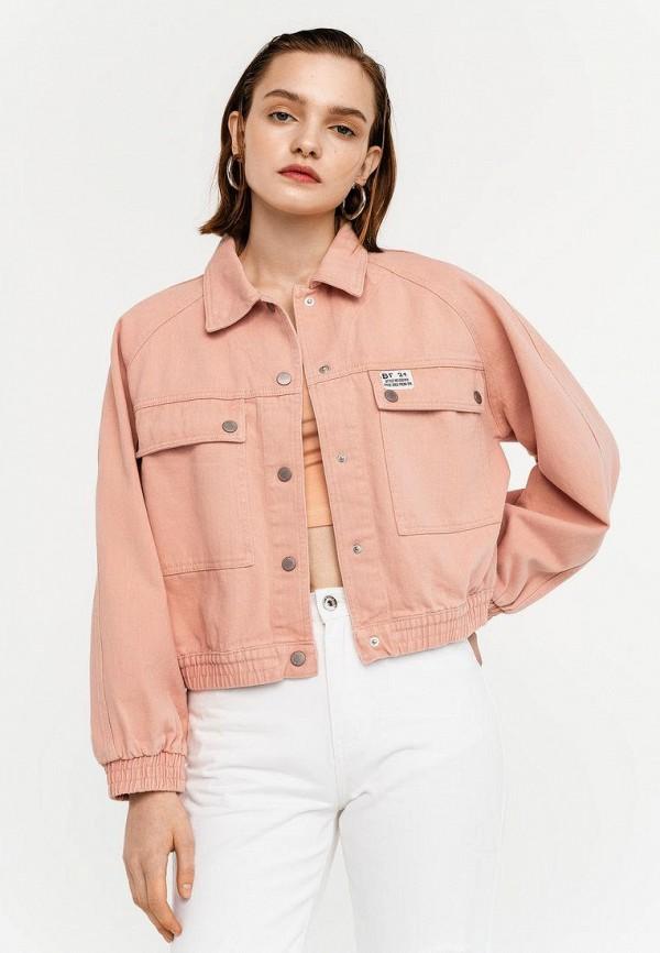 женская джинсовые куртка befree, оранжевая