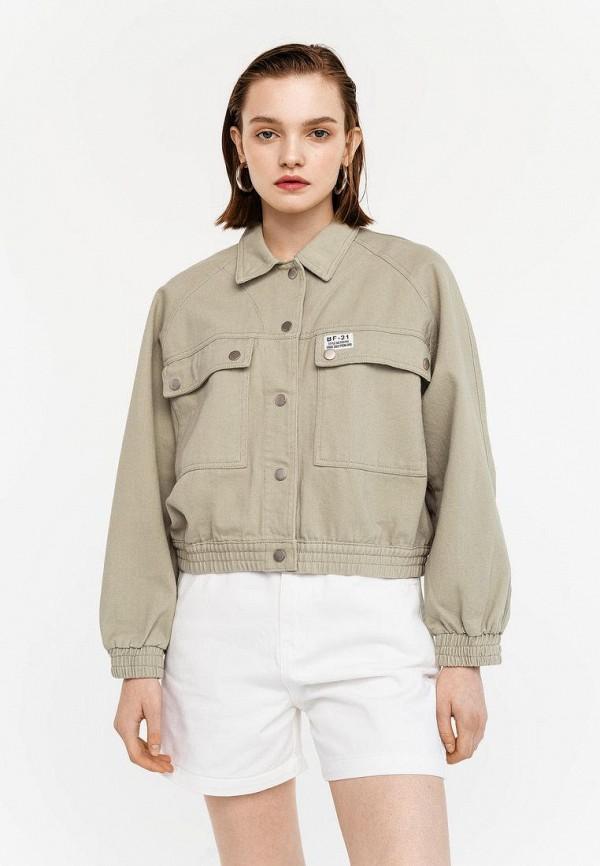женская джинсовые куртка befree, зеленая