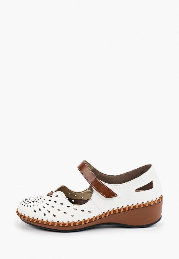 женские туфли rieker, белые