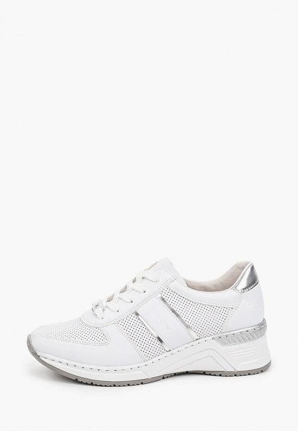 женские низкие кроссовки rieker, белые