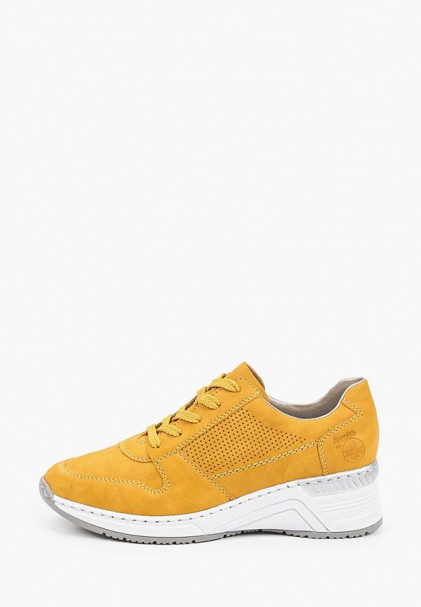 женские низкие кроссовки rieker, желтые