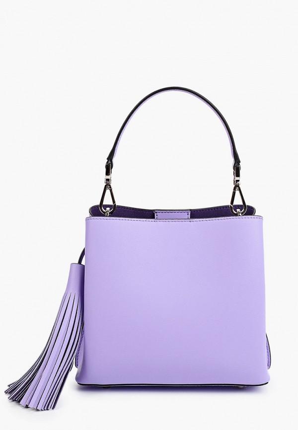 женская сумка с ручками eleganzza, фиолетовая