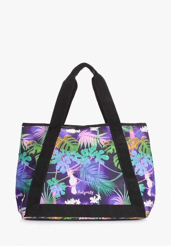 женская сумка poolparty, фиолетовая