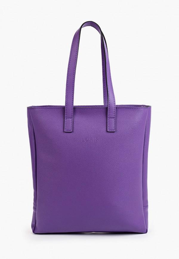 женская сумка с ручками lokis, фиолетовая
