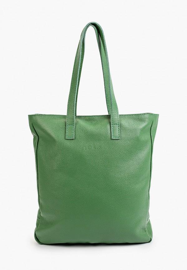 женская сумка с ручками lokis, зеленая
