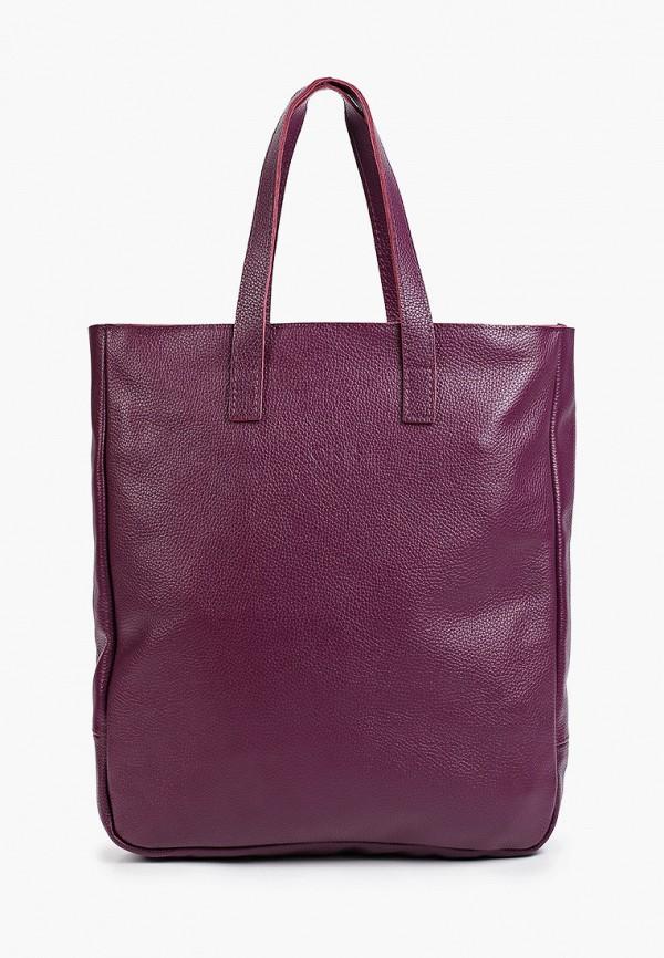 женская сумка с ручками lokis, бордовая