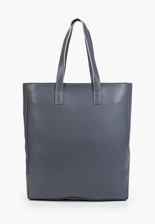 женская сумка с ручками lokis, синяя