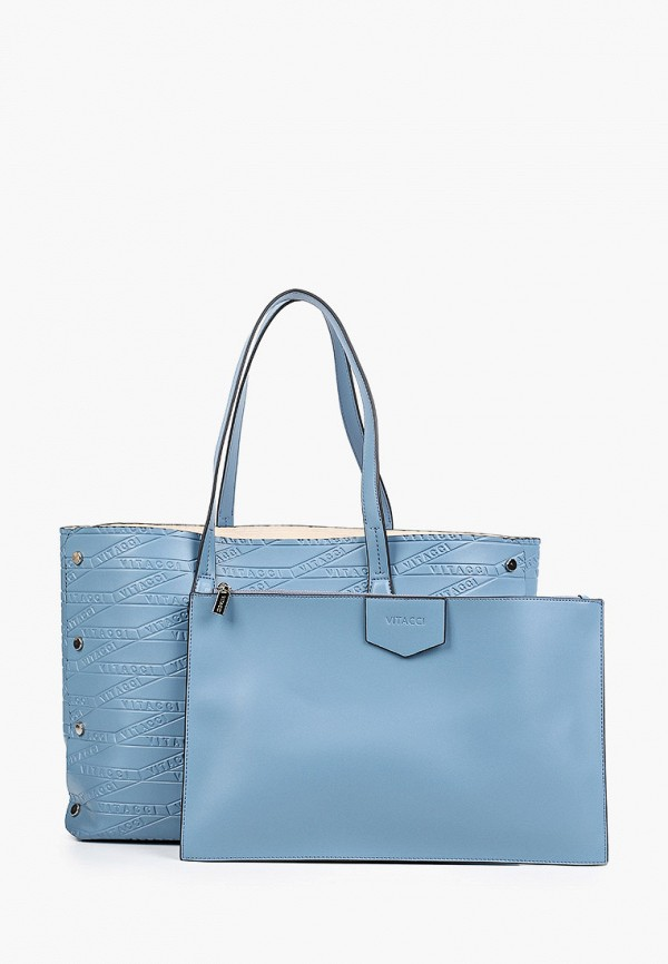 женская сумка-шоперы vitacci, голубая