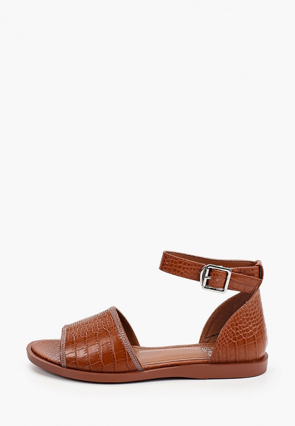 женские сандалии inario, коричневые
