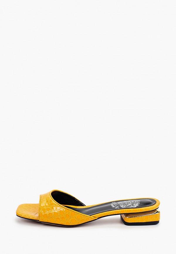 женское сабо inario, желтое