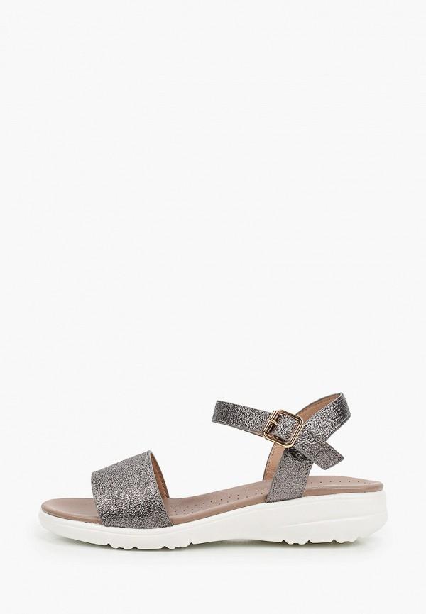 женские сандалии inario, серебряные