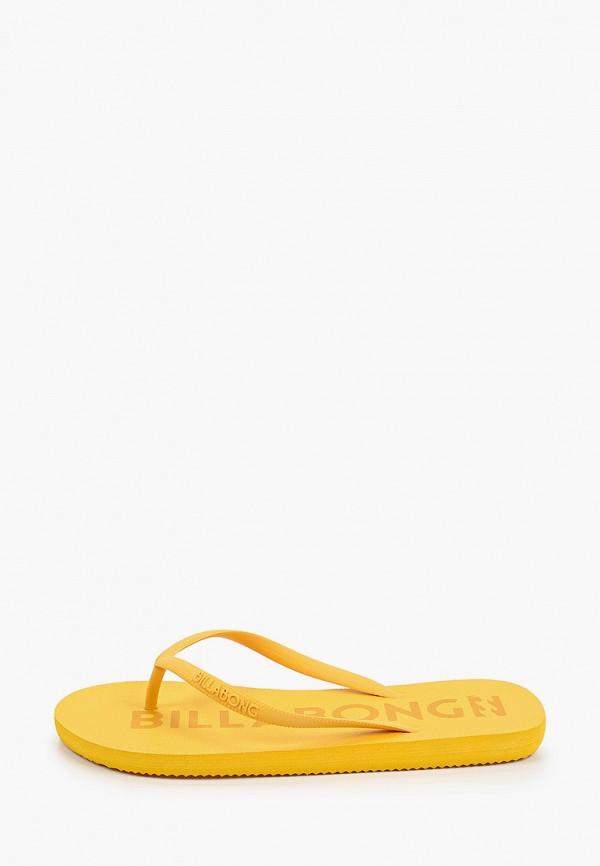 женские сланцы billabong, желтые