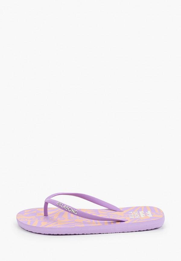 женские сланцы billabong, фиолетовые