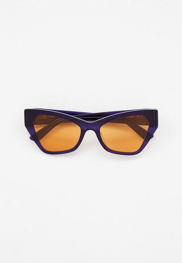 женские солнцезащитные очки кошачьи глаза karl lagerfeld, синие