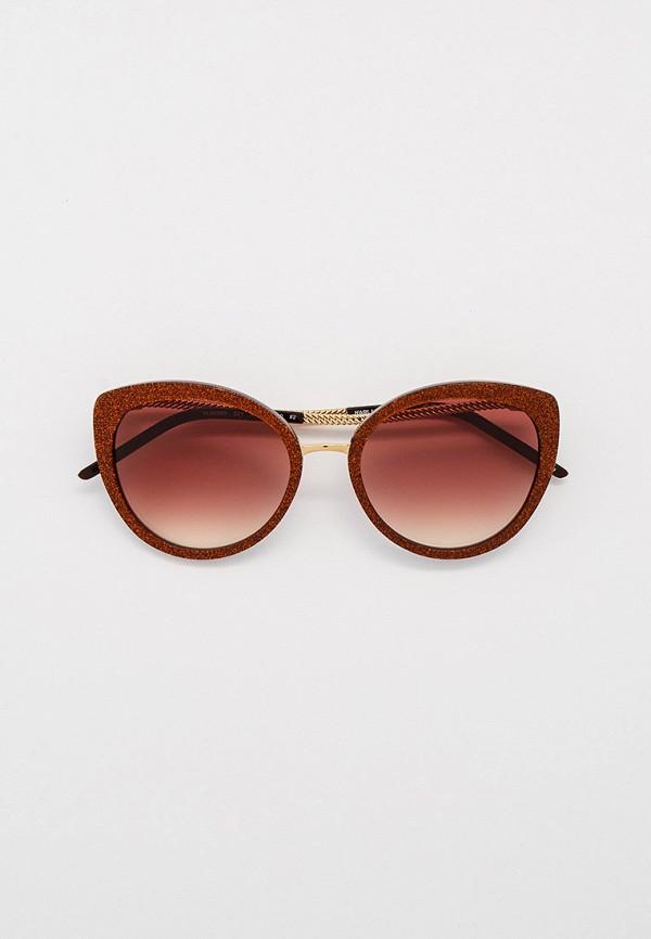 женские солнцезащитные очки кошачьи глаза karl lagerfeld, золотые