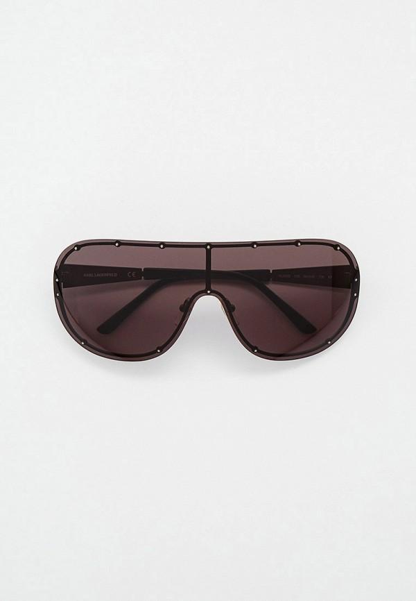 женские квадратные солнцезащитные очки karl lagerfeld, коричневые