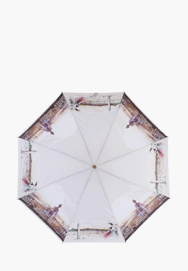 женский складные зонт lamberti, серый
