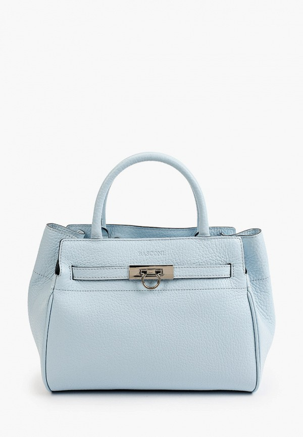 женская сумка с ручками basconi, голубая