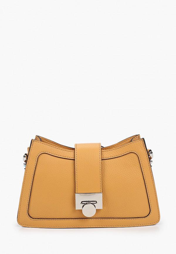 женская сумка через плечо basconi, оранжевая