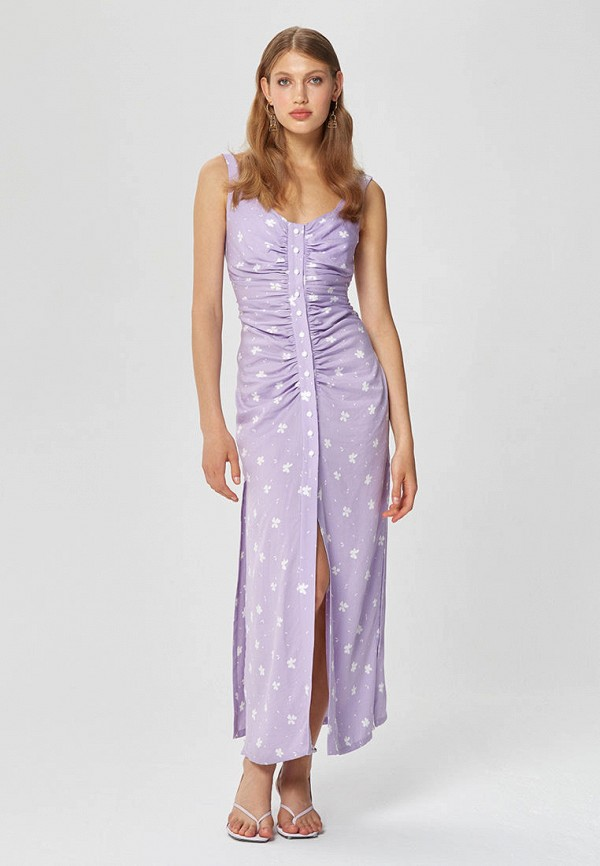 женский сарафан the select moscow, фиолетовый