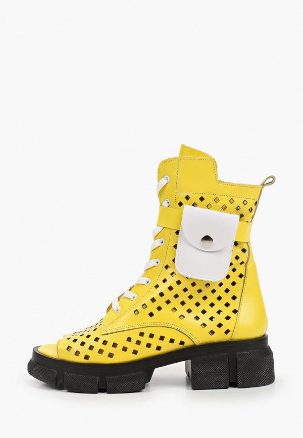 женские высокие ботинки stivalli, желтые