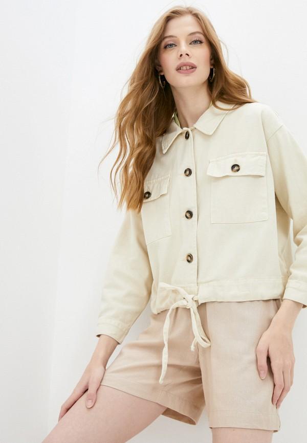 Куртка джинсовая Grafinia бежевого цвета