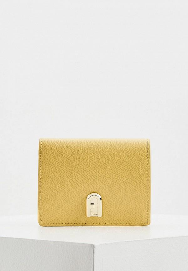 женский кошелёк furla, желтый