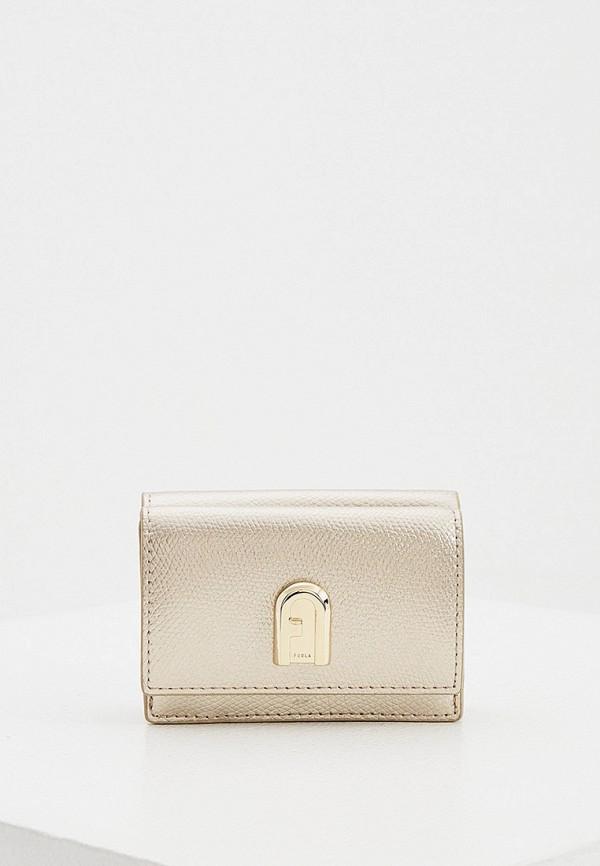 женский кошелёк furla, золотой