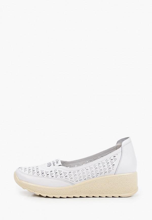 женские туфли с закрытым носом makfine, белые