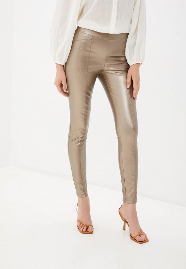 женские зауженные брюки sashyou, золотые