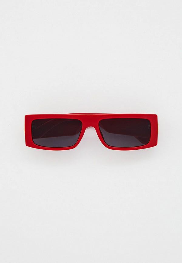 женские квадратные солнцезащитные очки mon mua, красные