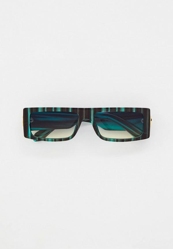 женские квадратные солнцезащитные очки mon mua, зеленые