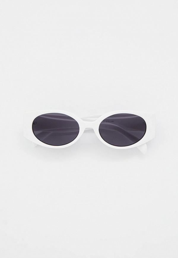 женские круглые солнцезащитные очки mon mua, белые